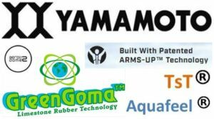 Compilation of logos which describe technologies used in production of triathlon wetsuits