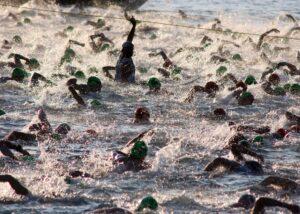 start of an Ironman triathlon