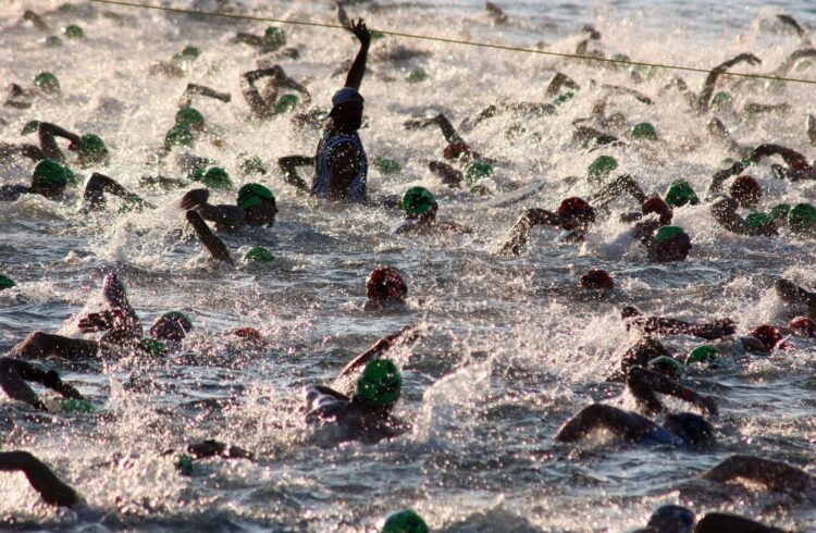 start of an Ironman triathlon